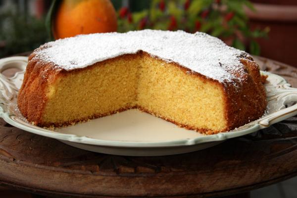 ricetta torta alle arance e farina di mais